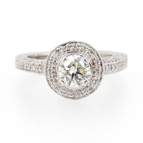 1.17 ctw Vintage Style Diamond Engagement Ring
