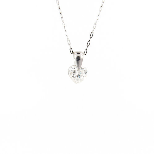 1.02ct Heart Diamond Pendant Front