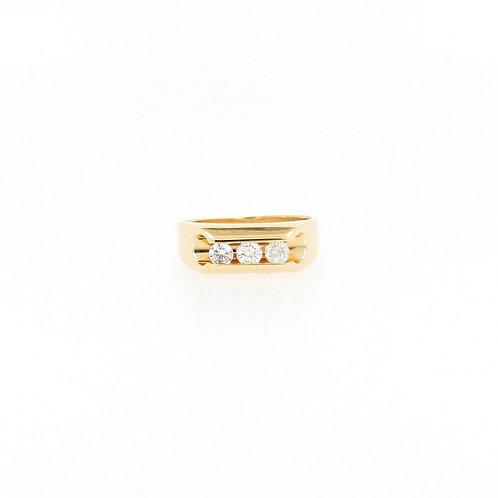 0.75ctw 3 Diamonds Fashion Ring Front