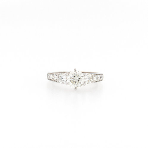 1.70 ctw Round Diamond Engagement Ring Front