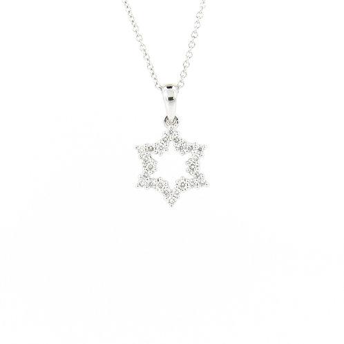0.25ctw Diamonds Open Star of David Pendant