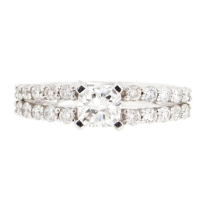 1.30ctw Cushion Cut & Round Diamonds Split Band Ring
