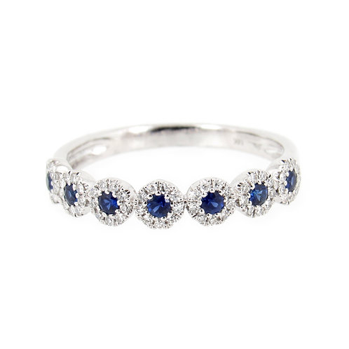 0.36 ctw Sapphire and Diamond Ring Front