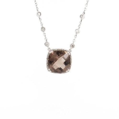Smoky Quartz & Diamonds Necklace