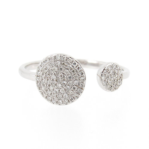 0.22 ctw Diamond Pave Ring Front
