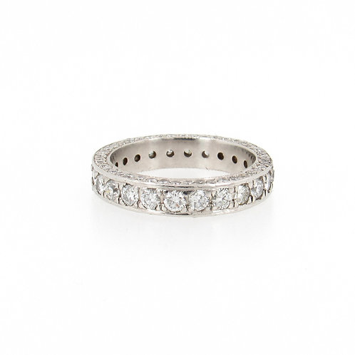 2.68ctw Round Diamonds 3D Eternity Ring Turned