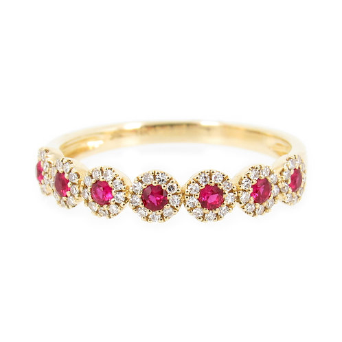 0.40 ctw Ruby and Diamond Ring Front