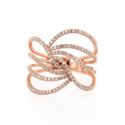 0.37ctw Diamond Waves Ring Front