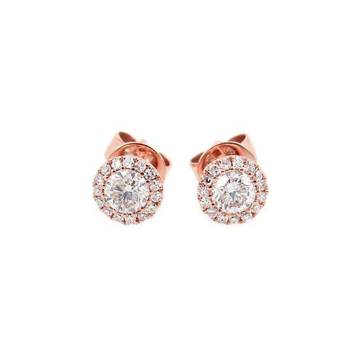 0.48 ctw Diamond Earrings Front