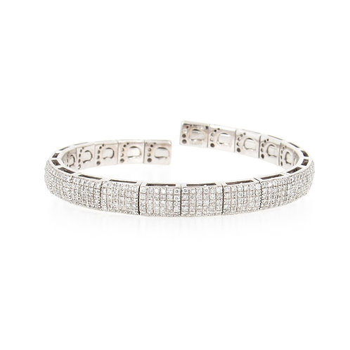 3.00ctw Diamonds Pave Links Bangle Front
