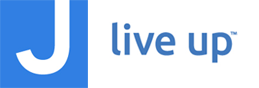 JCC logo, J live up logo