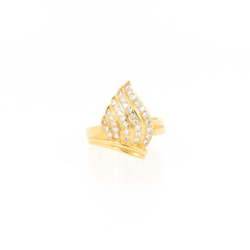0.50ctw Diamonds Fire Design Ring Front
