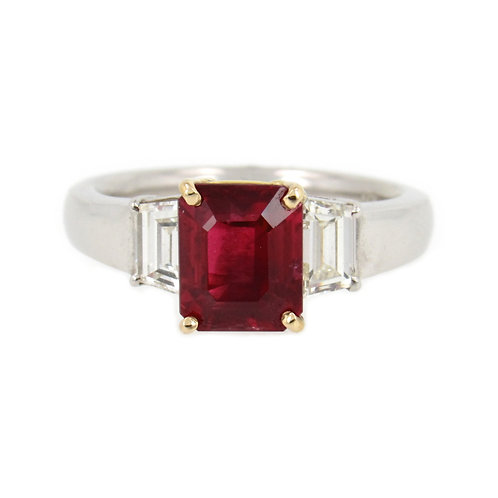 4.27 ctw Ruby and Diamond Ring Front