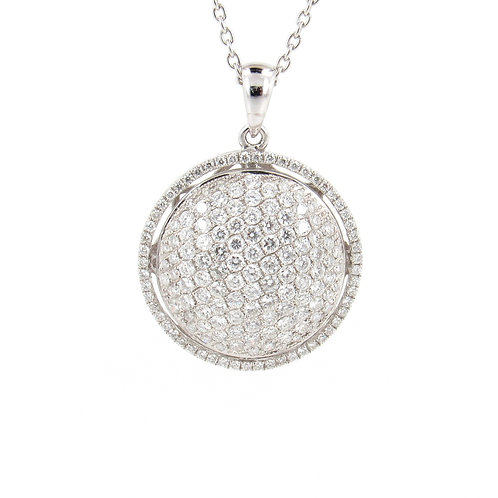 1.55ctw Diamonds Dome Pendant Front