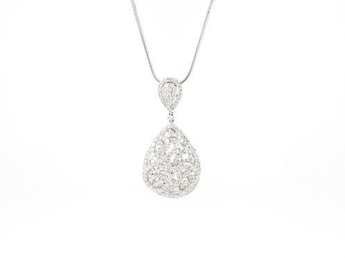 5.13ctw Diamonds Tear Drop Design