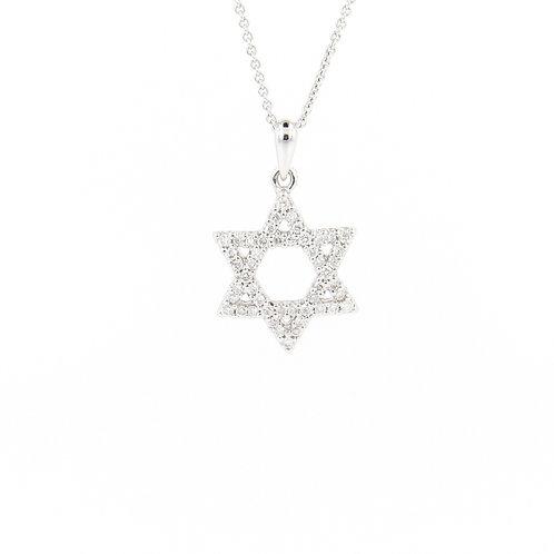 0.20ctw Diamonds Star of David Front