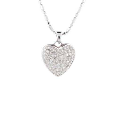 0.85ctw Diamonds Pave Heart Pendant Front