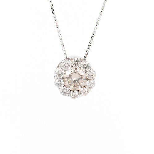 1.34ctw Diamonds Pendant Front