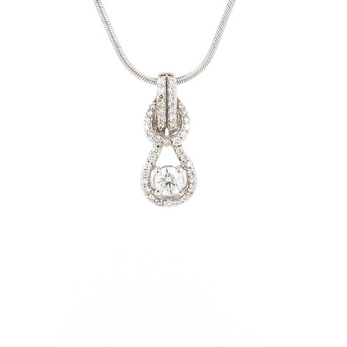 0.70ctw Diamonds Pendant Front