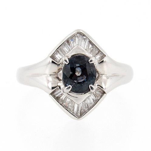 1.09ct Alexandrite & Diamonds Ring front