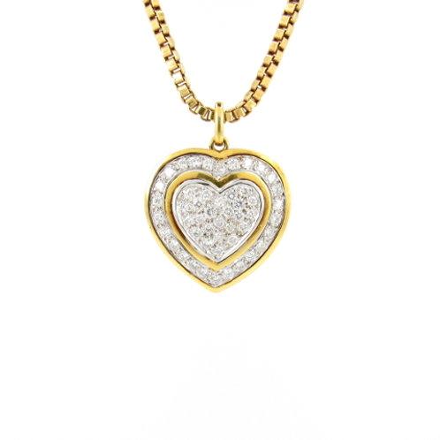 1.50ctw Diamonds Heart Pendant Front