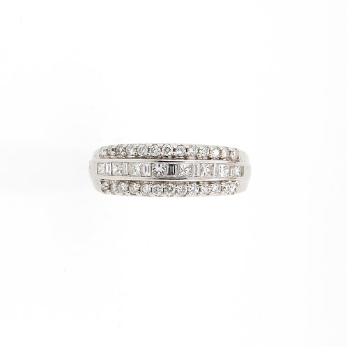 1.00ctw Mix Cuts Diamonds Ring Front
