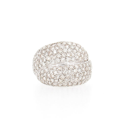 2.87ctw Diamonds Pave Ring Front