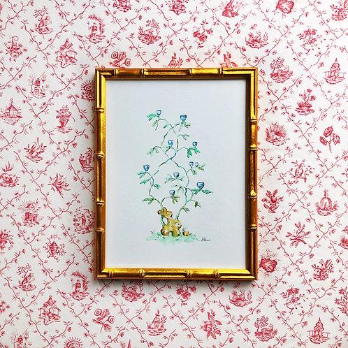 Chinoiserie Vignette: Porcelain Tree