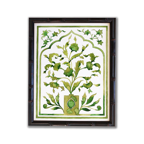 Original Painting of Green Indian Poppies