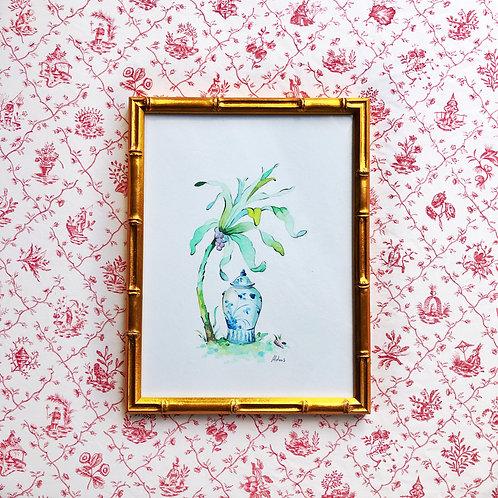 Chinoiserie Vignette: Palm Tree