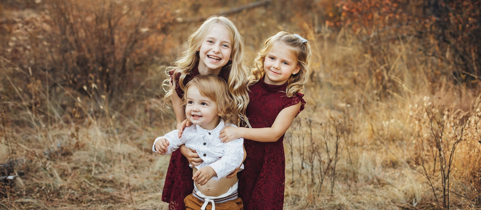 COEUR D ALENE FAMILY PHOTOGRAPHER | MORGAN BRUNEEL PHOTOGRAPHY | BRIGHT FALL SESSION