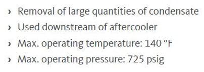 pn50 threaded high pressure water separa