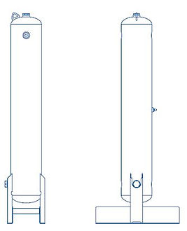 activated carbon adsorption towers diagr