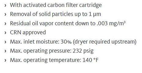 threaded activated carbon cartridge filt
