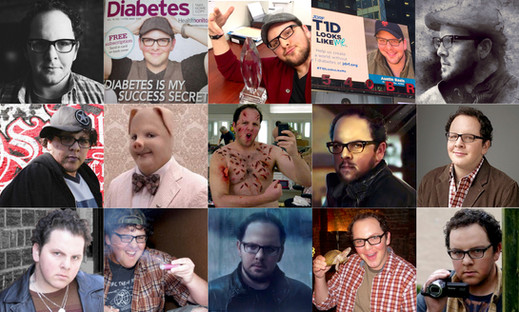 A photo-montage of Austin's many characters & endeavors