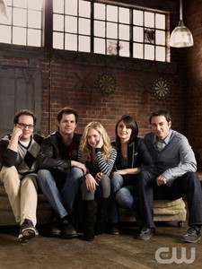 """Life Unexpected"" cast photo with Kris Polaha, Britt Robertson, Shiri Appleby & Kerr Smith"