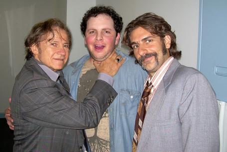 "Austin yucking it up on the set of ""Life On Mars"" with Harvey Keitel & Michael Imperioli"