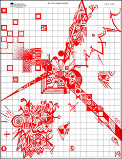 Graphic Red Doodle