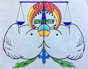 S.U.N.Y. Binghamton Unity Coalition logo design
