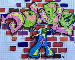 """Double """"A"""" graphic graffiti"""