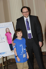"""Austin with dia-buddy Cole Byers at JDRF """"Kids For A Cure"""" Lobby Day in Ottawa, CANADA"""