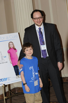 "Austin with dia-buddy Cole Byers at JDRF ""Kids For A Cure"" Lobby Day in Ottawa, CANADA"