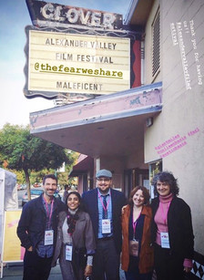 """Austin with his wife & fellow filmmakers at the world premiere of """"The Fear We Share"""" at the 5th Annual Alexander Valley Film Festival in Oct. 2019"""