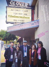 "Austin with his wife & fellow filmmakers at the world premiere of ""The Fear We Share"" at the 5th Annual Alexander Valley Film Festival in Oct. 2019"