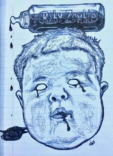 """Baby Zombie (""""American Zombie"""" 'Zine)"""