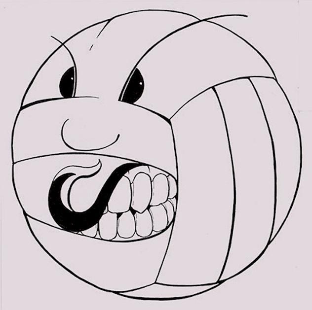 Jefferson High School Orange Wave - Volleyball Mascot