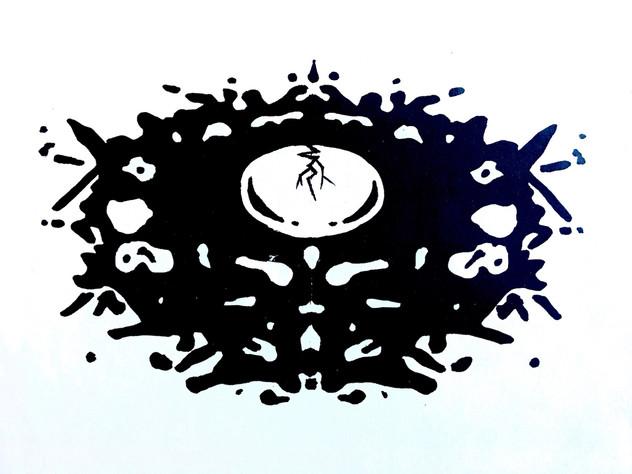 """""""SAFE"""" Inkblot Nest-Egg (postcard design)"""