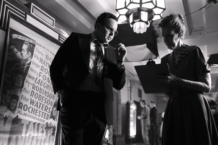 """Behind the scenes with Austin as David O. Selznick in the short film, """"First Oscar"""""""