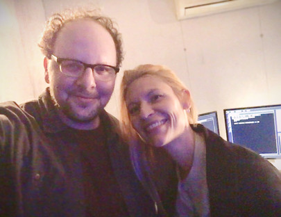 """Austin with the sweet & uber-talented Claire Danes on the set of the final season of """"HOMELAND"""" in Casablanca, Morocco, AFRICA"""