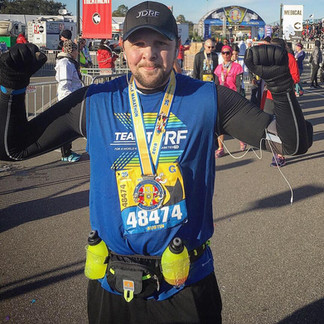 Austin after running the Walt Disney World Half-Marathon in 2017 for Team JDRF